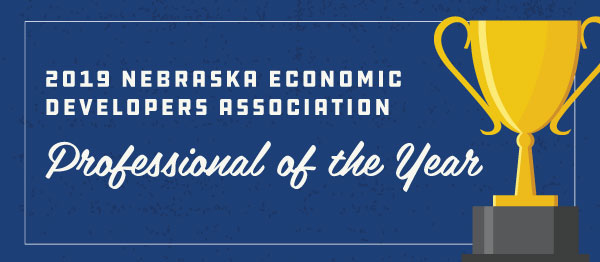 2019 Nebraska Economic Developers Association Professional of The Year